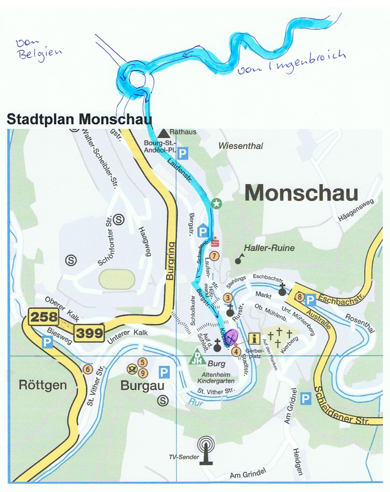 Karte Monschau