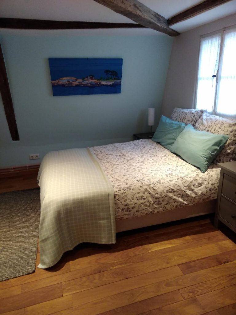 Der kleine Globetrotter Appartement Helsinki Schlafzimmer